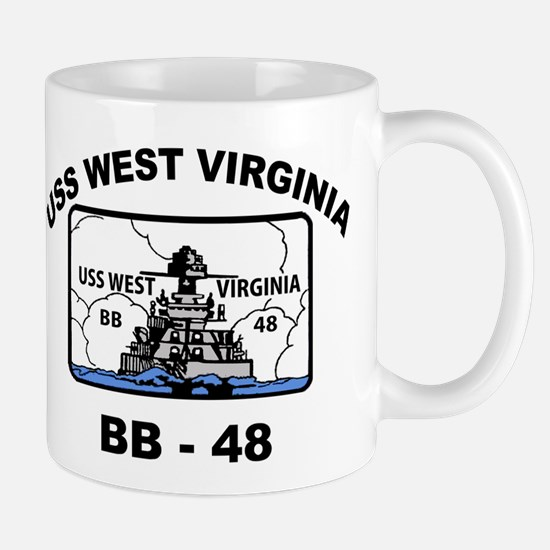USS West Virginia BB 48 Mug