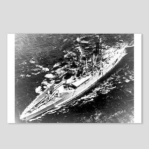 USS West Virginia Ship's Image Postcards (Pk of 8)