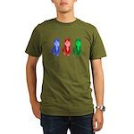 3 Pop art cats Organic Men's T-Shirt (dark)