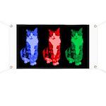 3 Pop art cats Banner