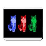 3 Pop art cats Mousepad