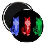 3 Pop art cats Magnet
