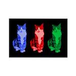 3 Pop art cats Rectangle Magnet (100 pack)
