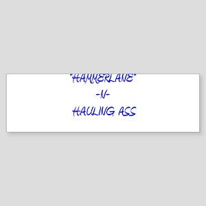 """""""HAMMERLANE"""" DESIGNS TRUCKER_ Sticker (Bumper)"""