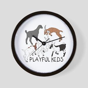 Playful Goat Kids Wall Clock