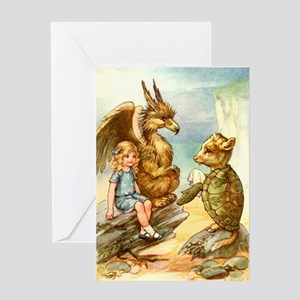 ALICE, GRIFFIN & THE MOCK TURTLE Greeting Card