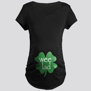 Wee Lad Irish Maternity Dark T-Shirt