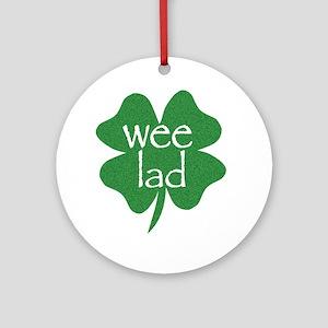 Wee Lad Irish Ornament (Round)