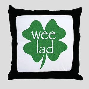 Wee Lad Irish Throw Pillow