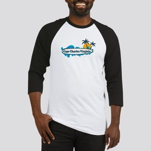 Cape Charles VA - Surf Design Baseball Jersey