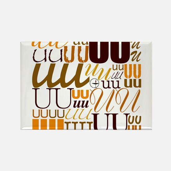 UU Typography (Autumn) Rectangle Magnet