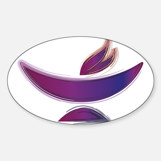 UU Painted Chalice Sticker (Oval)