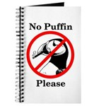 No Puffin Please Journal