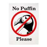No Puffin Please 5'x7'area Rug