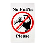 No Puffin Please Area Rug