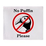 No Puffin Please Throw Blanket