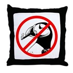 No Puffin Please Throw Pillow