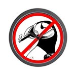 No Puffin Please Wall Clock