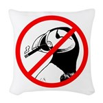 No Puffin Please Woven Throw Pillow