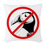 No Puffin Please Woven Throw Pillow