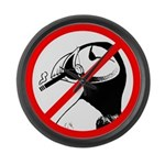 No Puffin Please Large Wall Clock