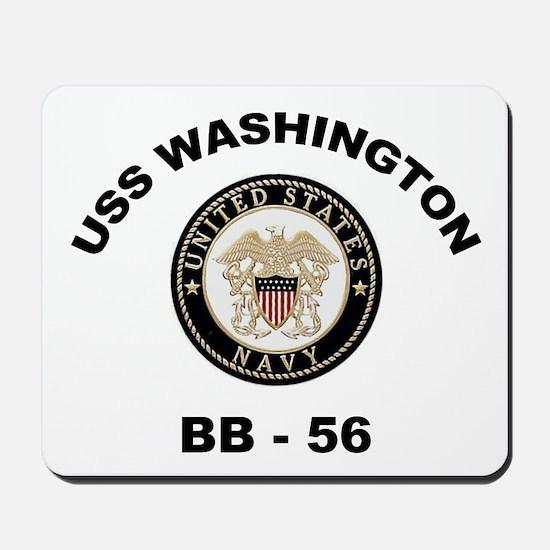 USS Washington BB 56 Mousepad