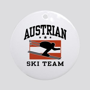 Austrian Ski Team Ornament (Round)
