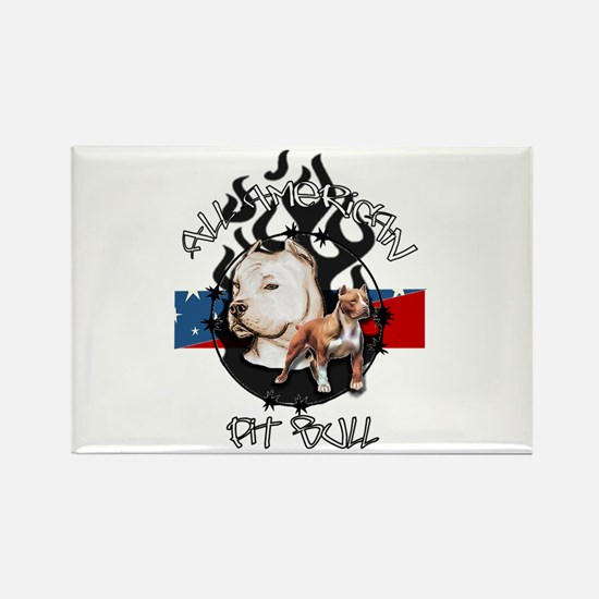 All American Pit Bull Rectangle Magnet