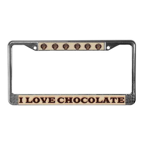 I Love Chocolate License Plate Frame