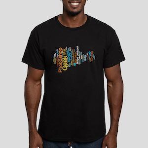 Photoshop Geek shirt Men's Fitted T-Shirt (dark)