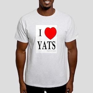 I Love Yats Ash Grey T-Shirt