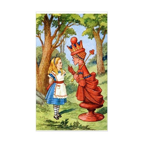 ALICE & THE RED QUEEN Sticker (Rectangle)