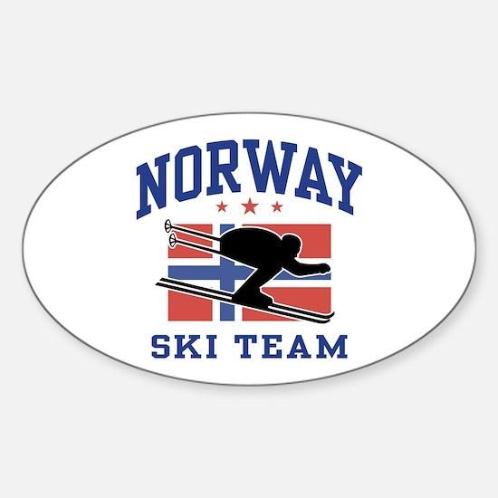 Norway Ski Team Sticker (Oval)