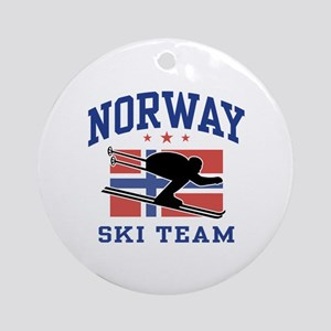 Norway Ski Team Ornament (Round)