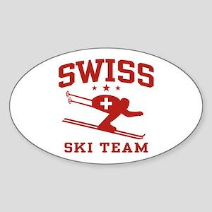Swiss Ski Team Sticker (Oval)