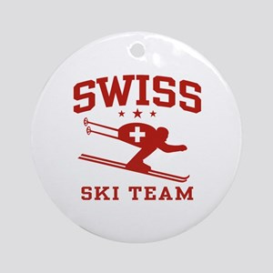 Swiss Ski Team Ornament (Round)