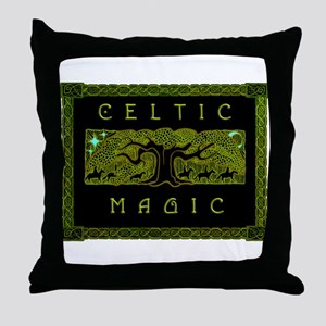 Celtic Magic - The Great Tree Throw Pillow