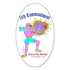 HONOR THY ANIMAL Sticker (Oval 10 pk)