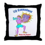 HONOR THY ANIMAL Throw Pillow