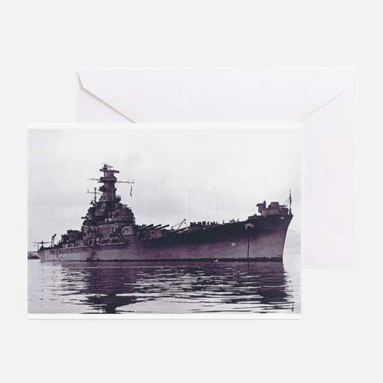 BB-57 Ship's Image Greeting Cards (Pk of 10)