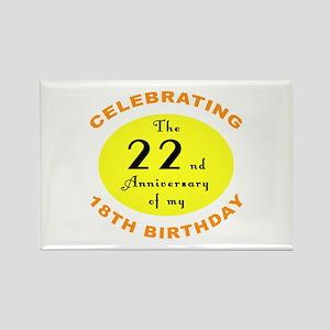40th Birthday Anniversary Rectangle Magnet