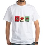 Peace, love, meat White T-Shirt