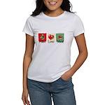 Peace, love, meat Women's T-Shirt
