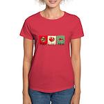 Peace, love, meat Women's Dark T-Shirt