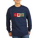 Peace, love, meat Long Sleeve Dark T-Shirt