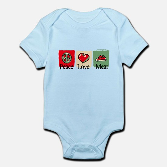 Peace, love, meat Infant Bodysuit