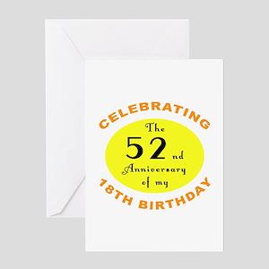 70th Birthday Anniversary Greeting Card