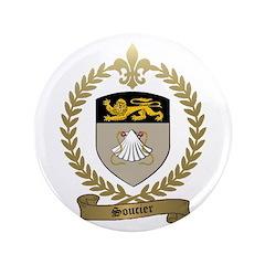 """SOUCIER Family Crest 3.5"""" Button (100 pack)"""