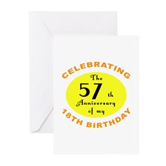 75th Birthday Anniversary Greeting Cards (Pk of 20
