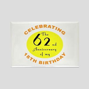 80th Birthday Anniversary Rectangle Magnet